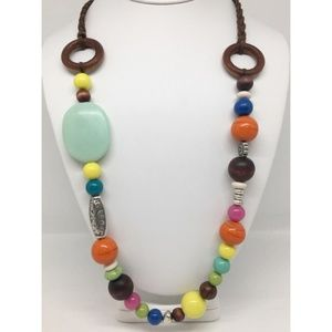 Lucky Brand Colorful Beaded Necklace